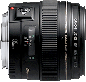 An affordable f/1.8 telephoto lens.  Good for close up portraits with shallow depth of field.