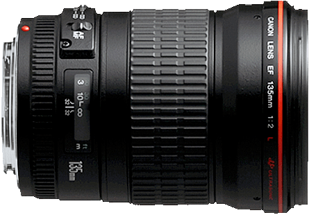 A fixed, fast telephoto lens, the 135mm is one of Canon's fastest lenses at that focal length.