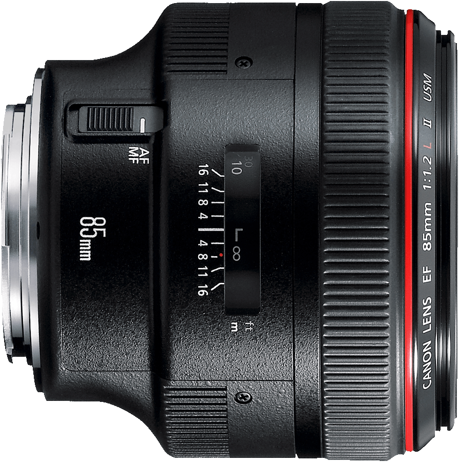 Canon's fastest 85mm lens.  For use in extreme low light or when razor thin depth of field is needed.