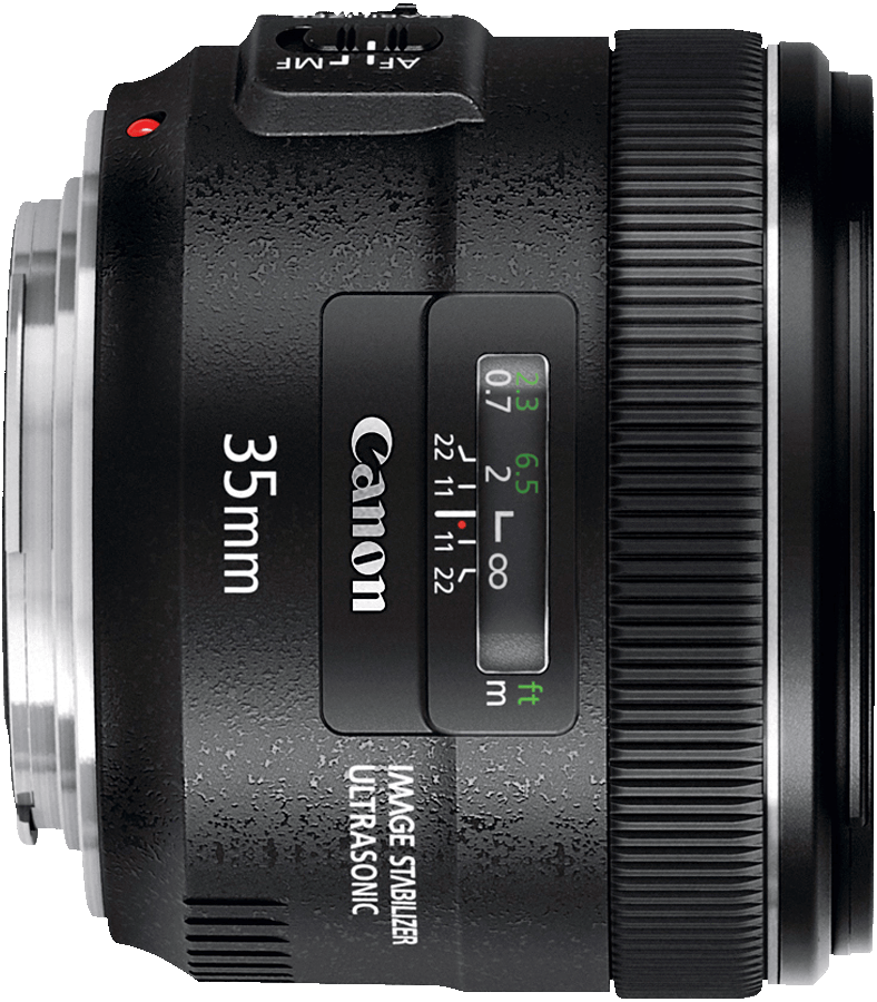 A modern full-frame 35mm design with fast f/2 aperture and 4 stop image stabilizer.