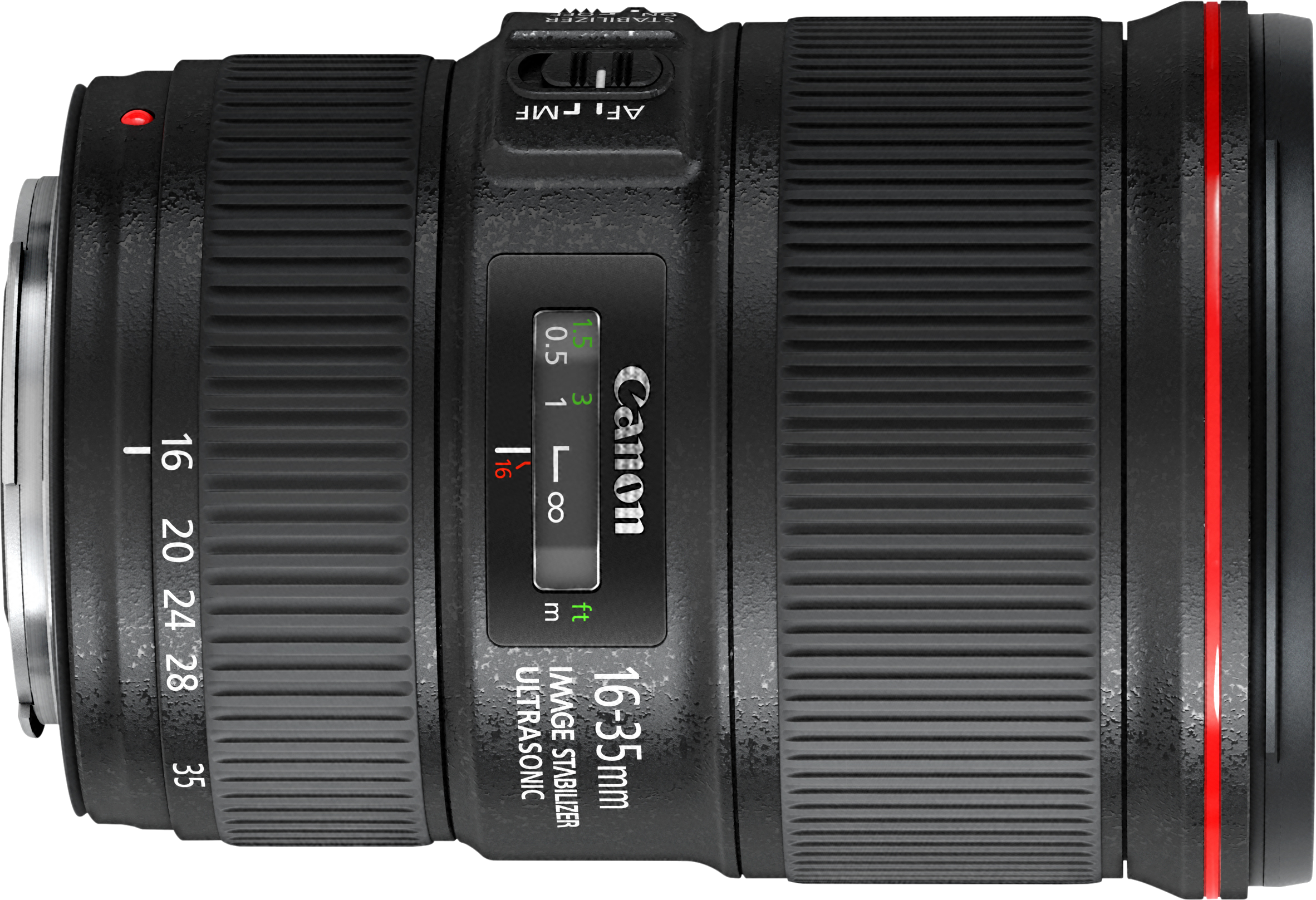 Wide angle f/4 zoom with up to 4 stops of image stabilization