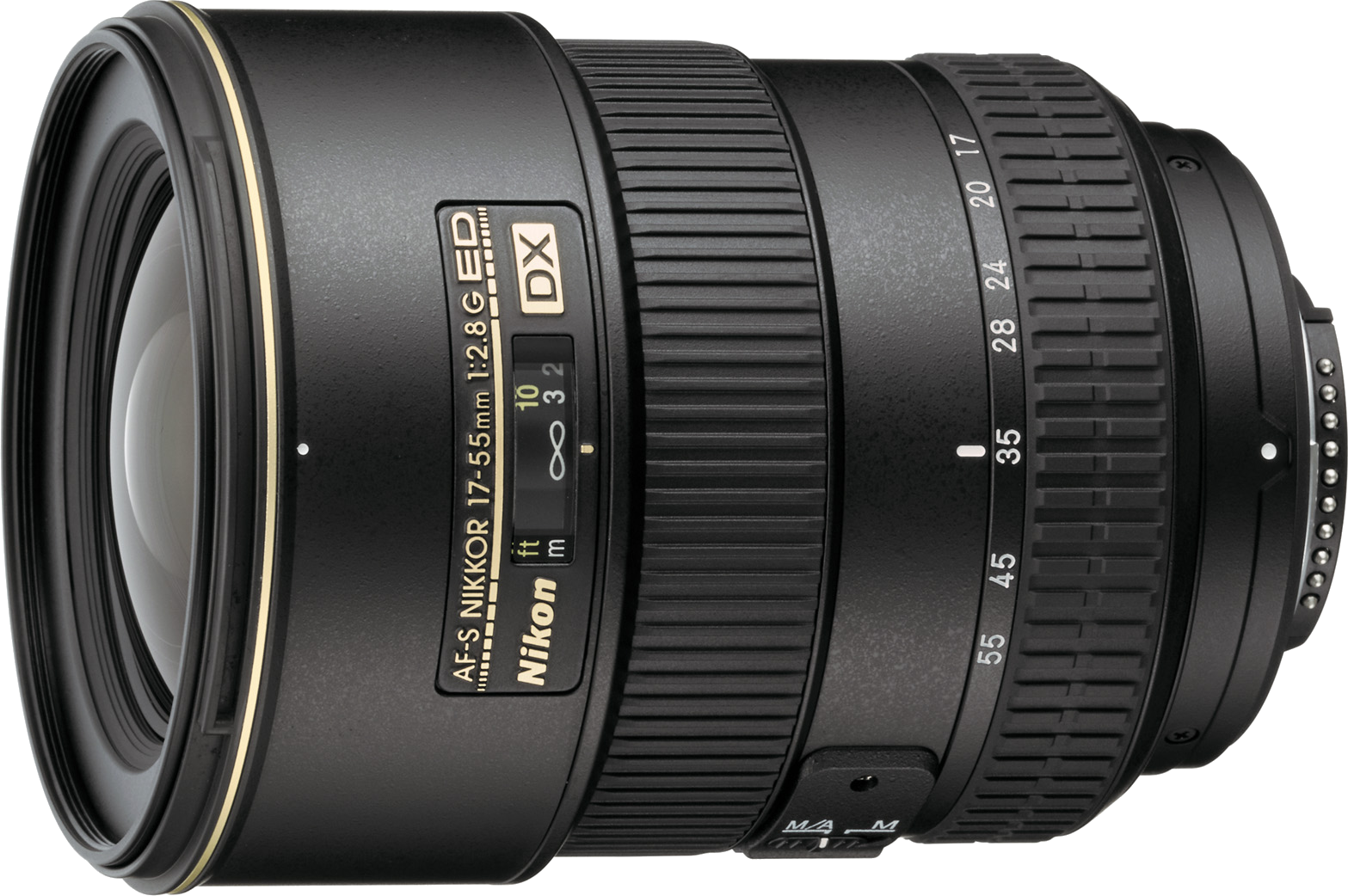 A wide to standard zoom lens with constant f/2.8 aperture, this lens is popular for low light photography with crop sensors.