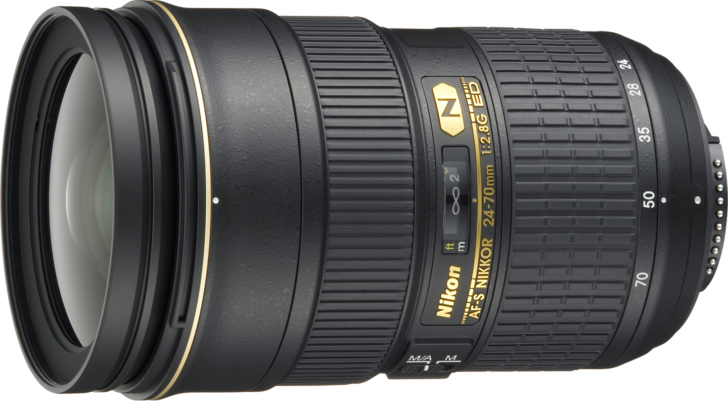 A wide to standard zoom lens with a constant f/2.8 and the ability to work with full frame and crop sensor cameras.