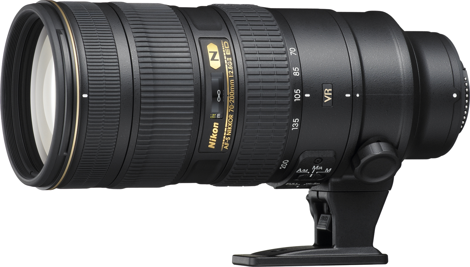 The standard in sports photography zoom lenses.  Great for high action and low light conditions.  This is the newer version II model of this lens.