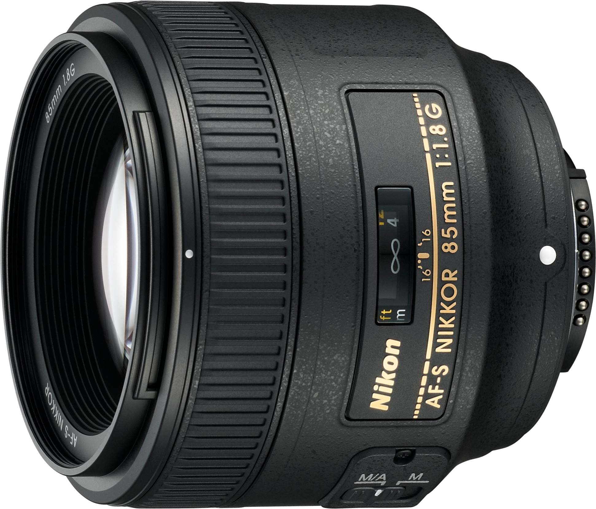 The newest version of Nikon's 85mm f/1.8 telephoto.  This lens will autofocus on all Nikon DSLRs.
