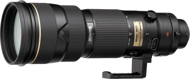 A large supertelephoto zoom with constant f/4.  This is the first version of Nikon's 200-400mm.