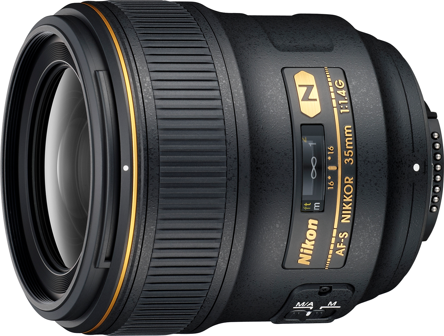 Fast f/1.4 on a classic focal length.  Great for FX and DX cameras.